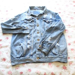 cute distressed jean jacket